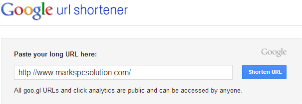 Google URL Shortener Service