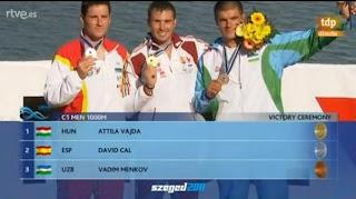 PIRAGÜISMO-Plata y plaza olímpica para el gran David Cal