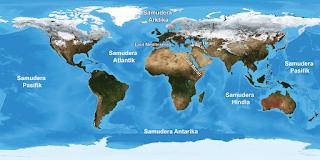 Mengenal Laut dan Samudera di Dunia