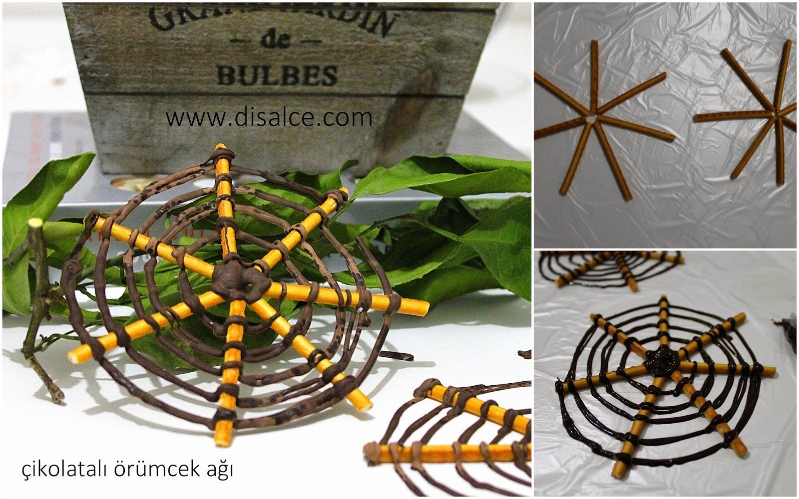 çubuk krakerden örümcek ağı