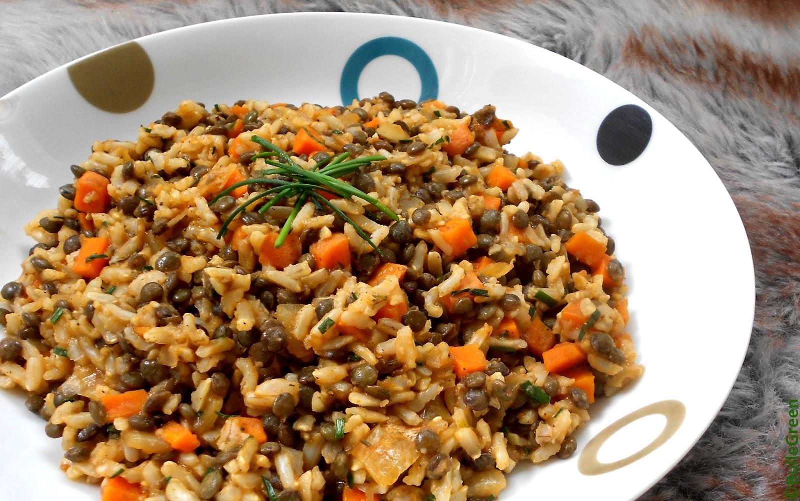 Bulle green po l e de riz et lentilles toute simple - Absorber l humidite avec du riz ...