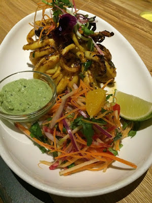 Tandoori calamari at Pukka restaurant in Toronto