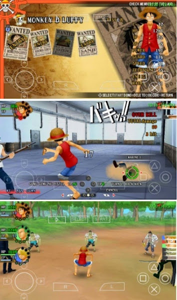 Download Game PSP One Piece Romance Dawn CSO