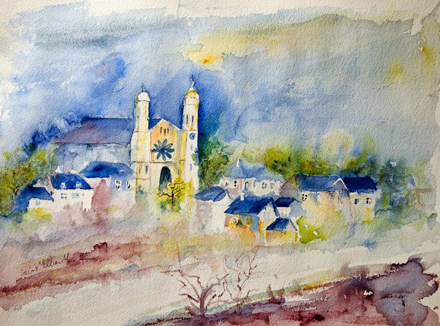 aquarelle Saint Clément des Levées