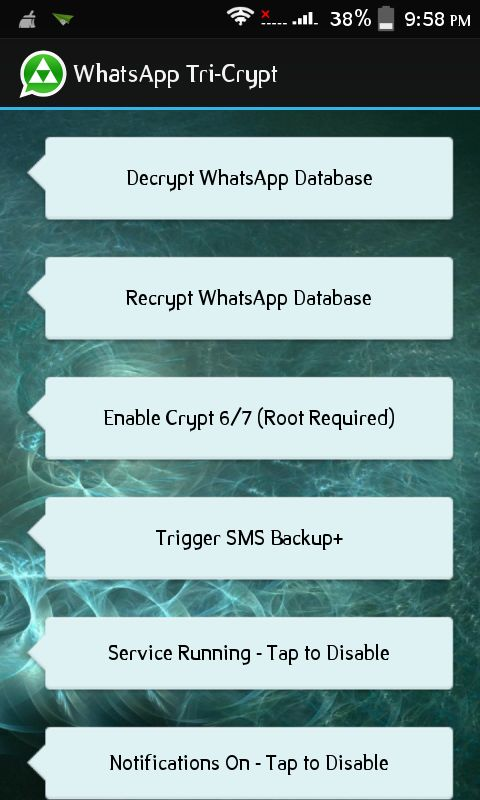 tricrypt decrypt all messages