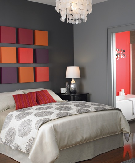 Diy simple headboard home ideas designs for Painted on headboard