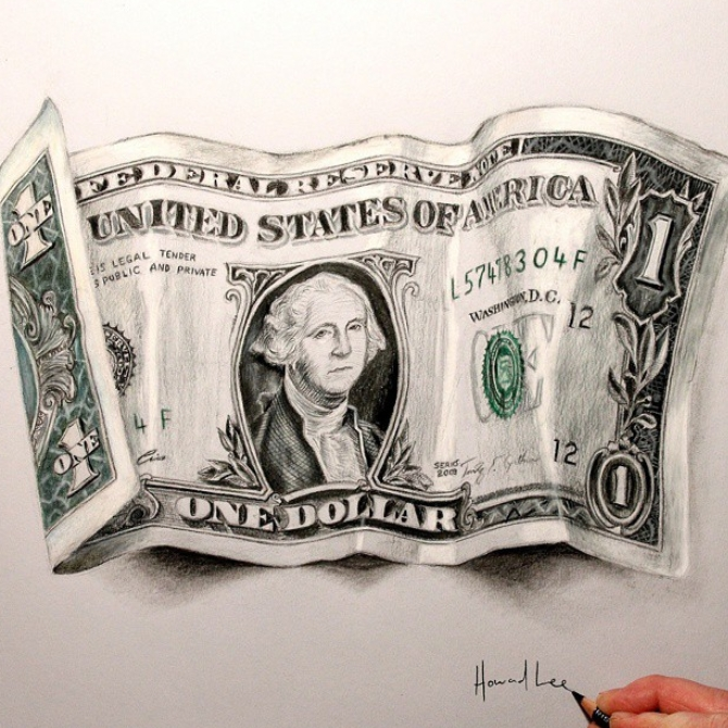 11-One-Dollar-Note-Howard-Lee-Time-Lapse-Videos-of-Drawings-and-Paintings-www-designstack-co