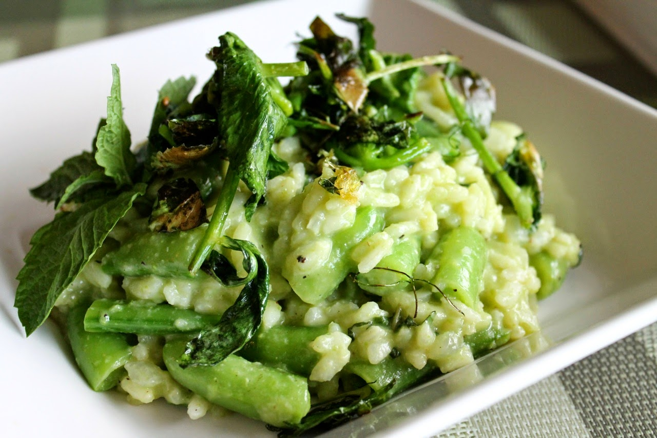 Peas 3-Ways Risotto with Mint