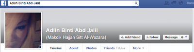 Facebook Makcik Hajjah Sitt Al-Wazura Yang Menghina Islam
