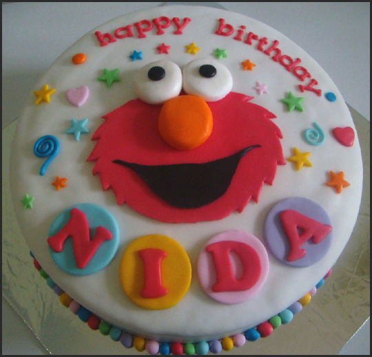 de-Ir Cakes: Elmo Birthday cake for Nida