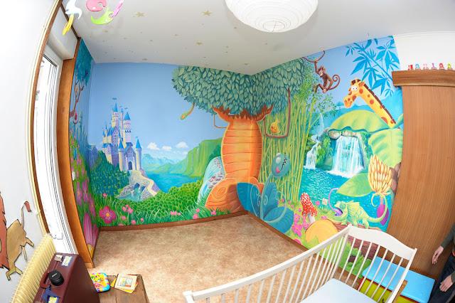fresque peinture pour chambre d'enfant