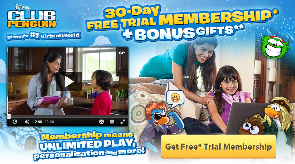 Free Club Penguin 30-Day Membership