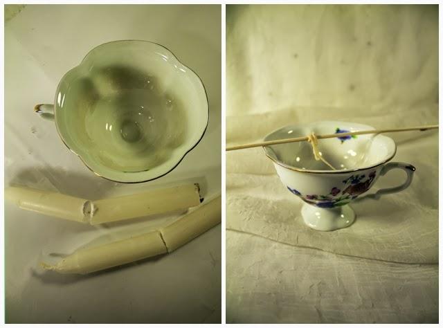 świeczka w filiżance DIY