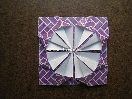Origami Instruction Simple Diamond Coaster