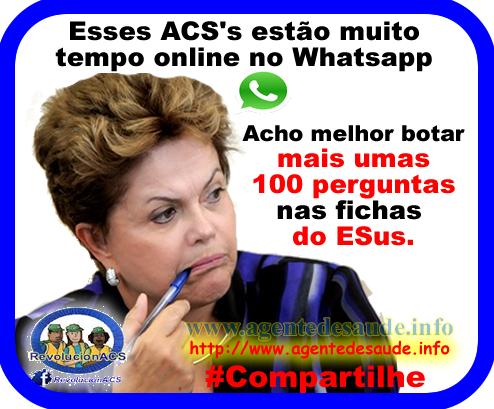 dilma%2Besus%2Bwhatsapp ACS's Ficam muito tempo online no Whatsapp