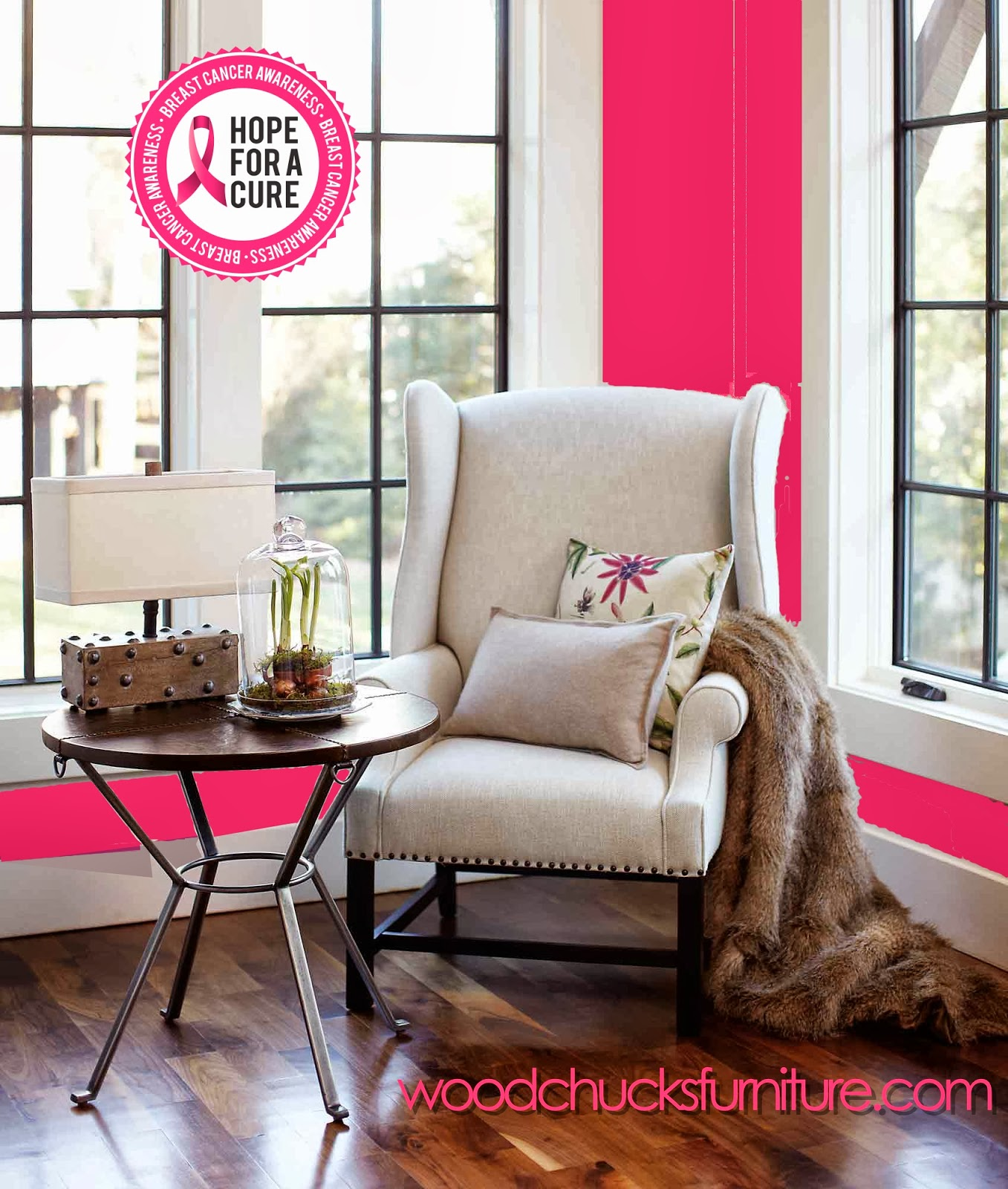 Woodchuck s Fine Furniture and Decor Going Pink for Breast Cancer