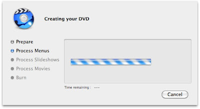 iDVD: Creating your DVD and burning