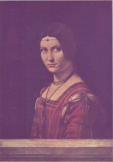 Portrait of Lucrezia Crivelli - Painting of Leonardo Da Vinci