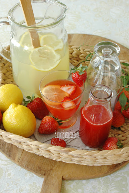 Strawberry Lemonade- Simply Suzanne's-Weekly Blog Link Up Party-Treasure Hunt Thursday- From My Front Porch To Yours
