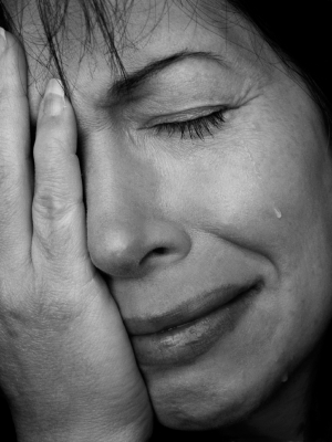 Depressed Woman Crying The Quiet Place : Depr...