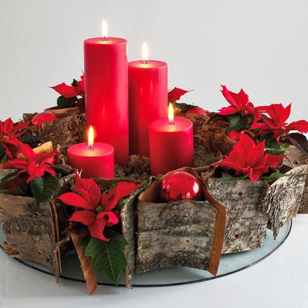 Centros de mesa de navidad rojos parte 3 - Centros de navidad con velas ...