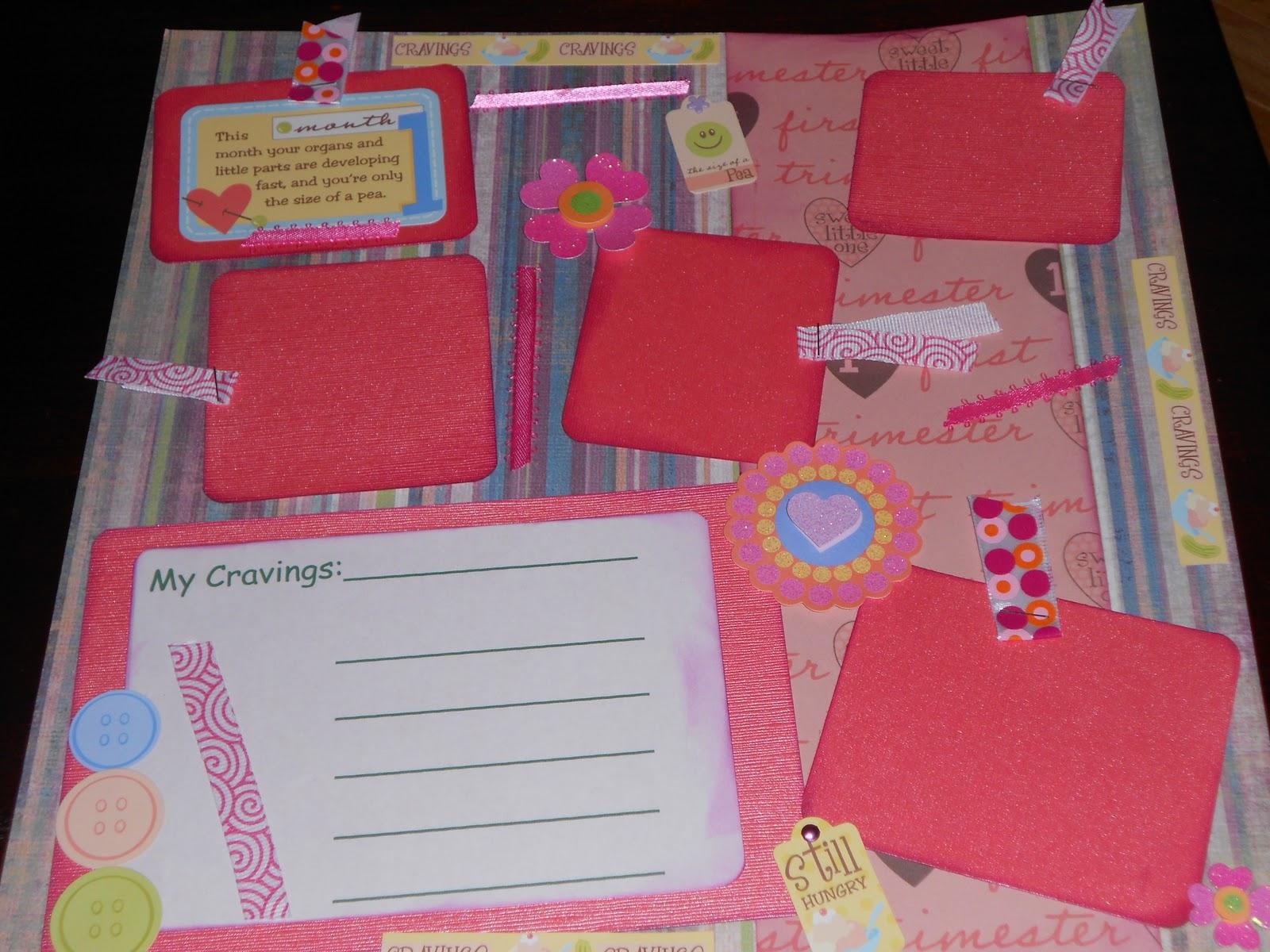 Baby scrapbook ideas quotes - 12x12 Premade Pregnancy Scrapbook Pages