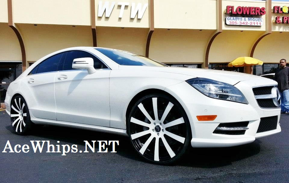 Ace 1 wtw customs white 2013 mercedes benz cls550 on 22 for 2013 mercedes benz cls550