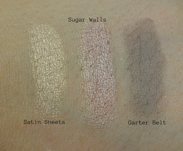 Boudoir eyes -Too Faced - Boudoir eyeshadow palette - Satin eyeshadow - Matte eyeshadow - Glitter eyeshadow - swatch - review