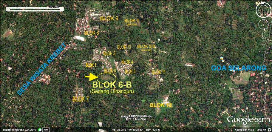 Citra Satelit  Area Perumnas Bumi Guwosari