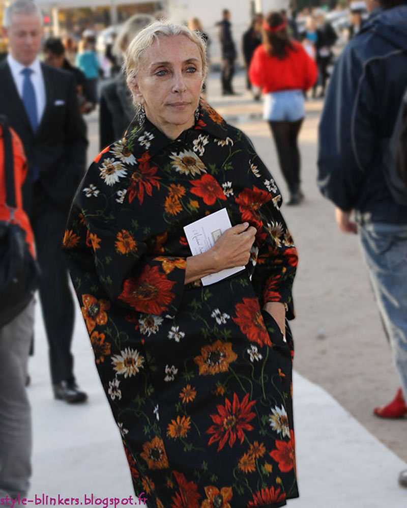 Franca Sozzani at Nina Ricci S/S 2013 Paris Fashion Week