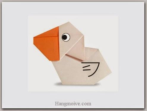 Cách gấp, xếp con bồ nông bằng giấy origami - Video hướng dẫn xếp hình Động vật - How to fold a Pelican