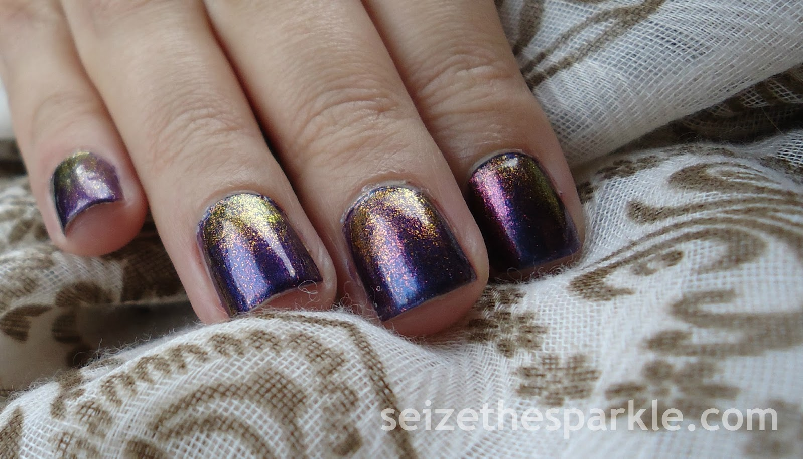 Layering with Orly Mysterious Curse and Hard Candy Beetle
