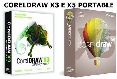 CORELDRAW X3 E X5 PORTABLE