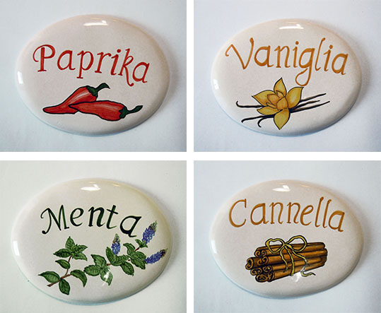 Targhette In Ceramica Per Porte.Lab123 Matilde Tibuzzi Ceramica Personalizzata