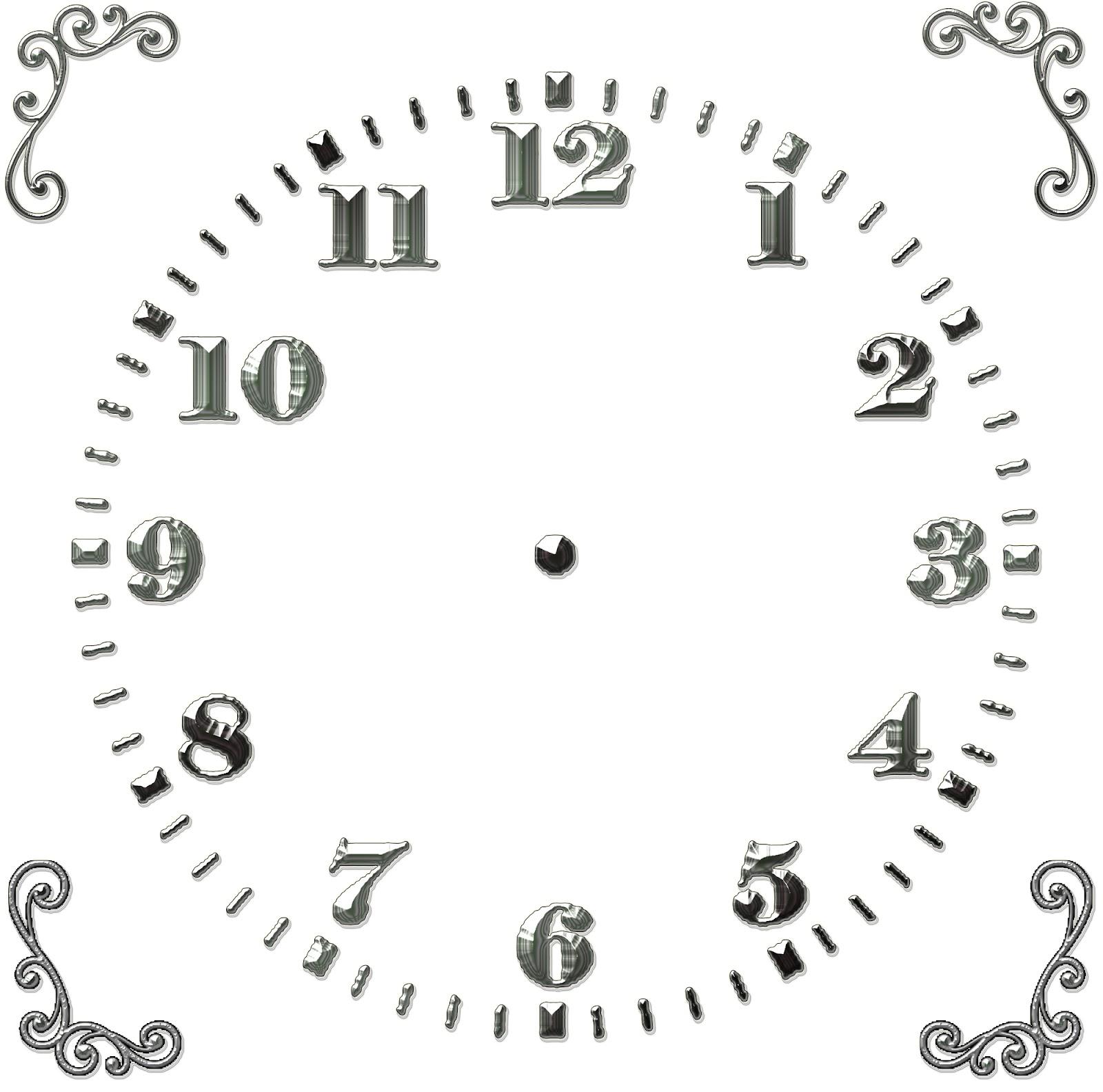Циферблат для часов шаблон скачать