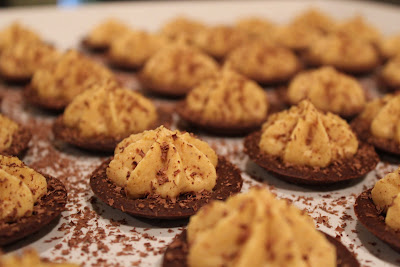 Chocolate-pumpkin tartlets