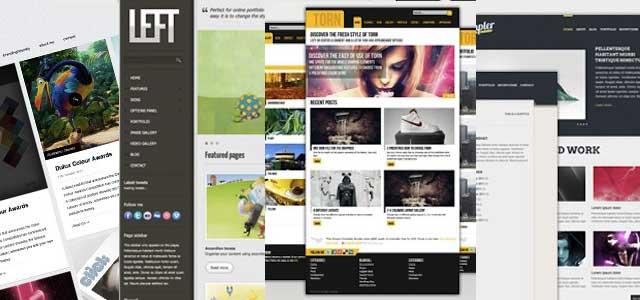 plantillas web de alta calidad en PSD