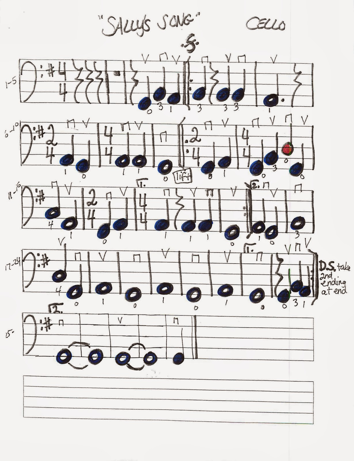 Miss Jacobson's Music: SALLY'S SONG