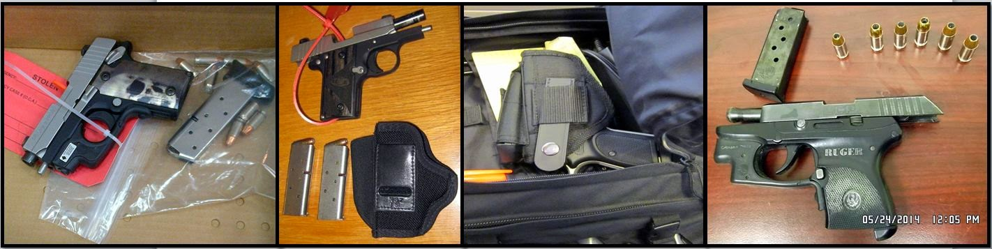 Firearms Discovered at (L-R) - ATL, MCO, OMA, SDF