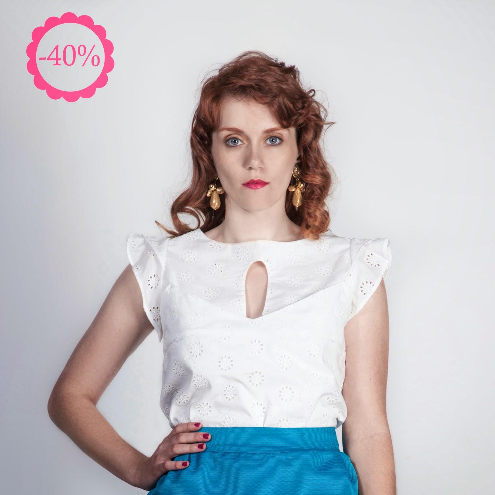 Blusa 100% algodón, La Böcöque, Verano, tienda online, ropa, made in spain