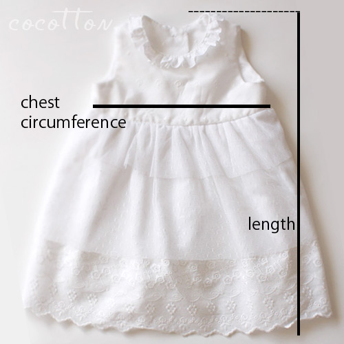 Gaera Design Studio Summer Angel Baby Dress Size Chart By Cocotton