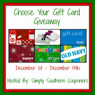 Enter the Chooser Your $50 Gift Card Giveaway. Ends 12/14.