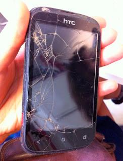 Kiera's broken HTC phone