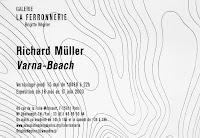 Richard Müller: dépliant galerie la Ferronnerie Paris