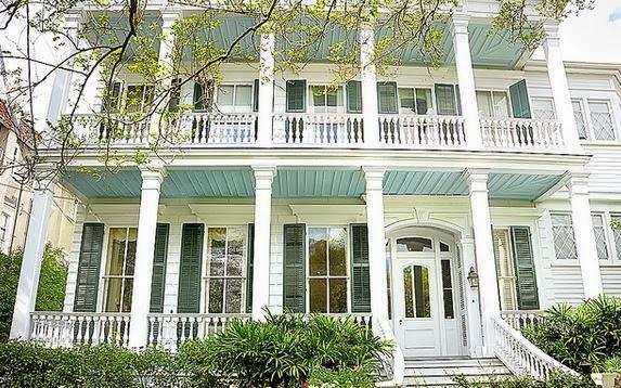 Double Veranda With Haint Blue Ceilings
