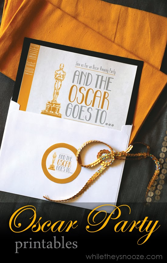 While They Snooze Oscar Party Printables