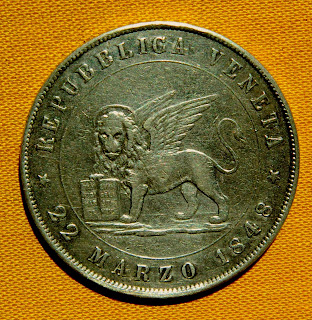 Серебряная монета Венеции Italian Silver Coin