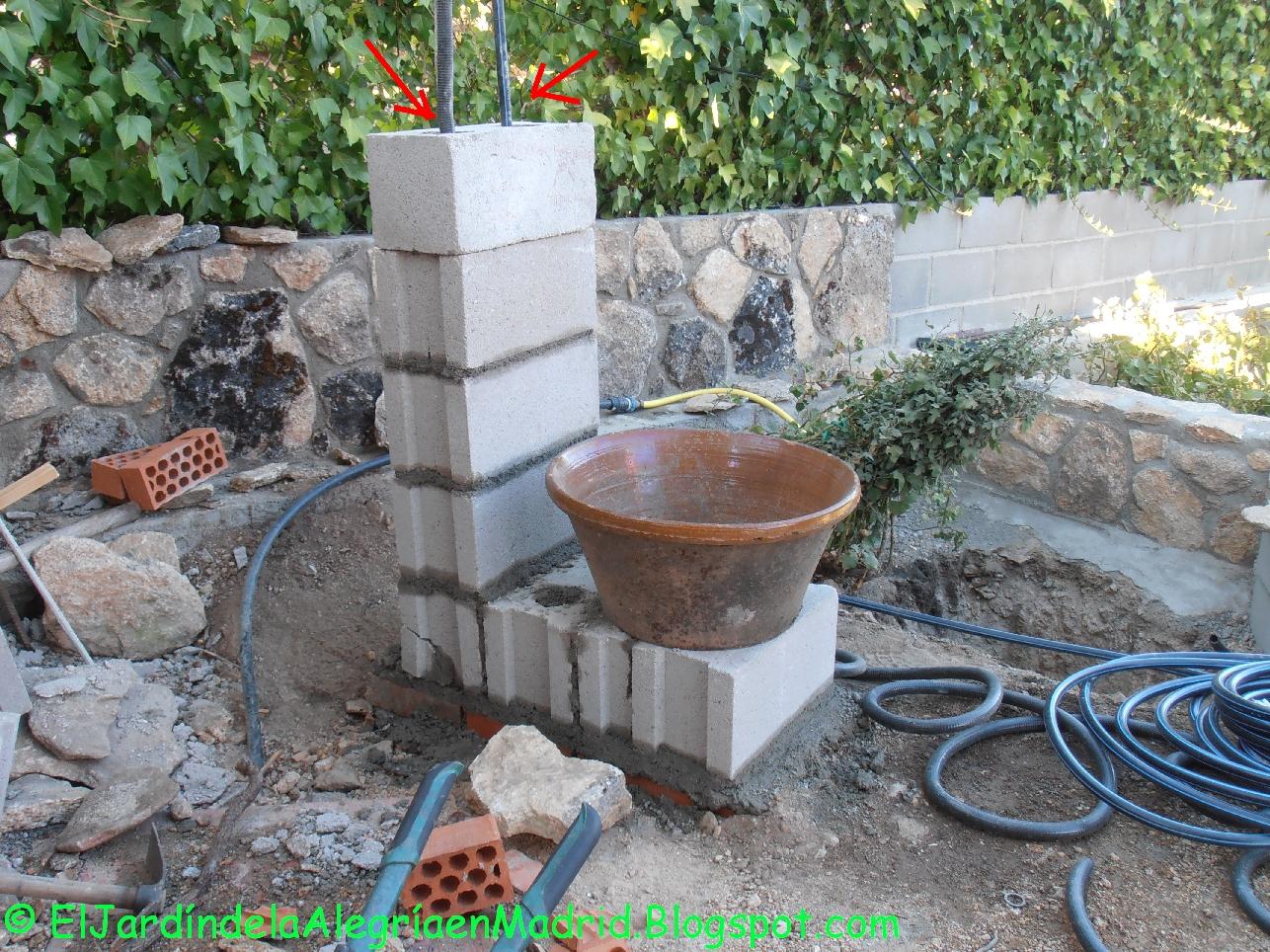 El jard n de la alegr a agua c mo instalar una bomba for Construir una fuente de jardin