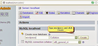 Database wordpress has been created