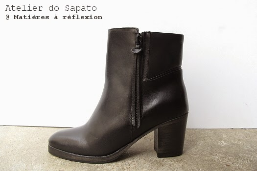 Bottines noires en soldes Atelier do Sapato